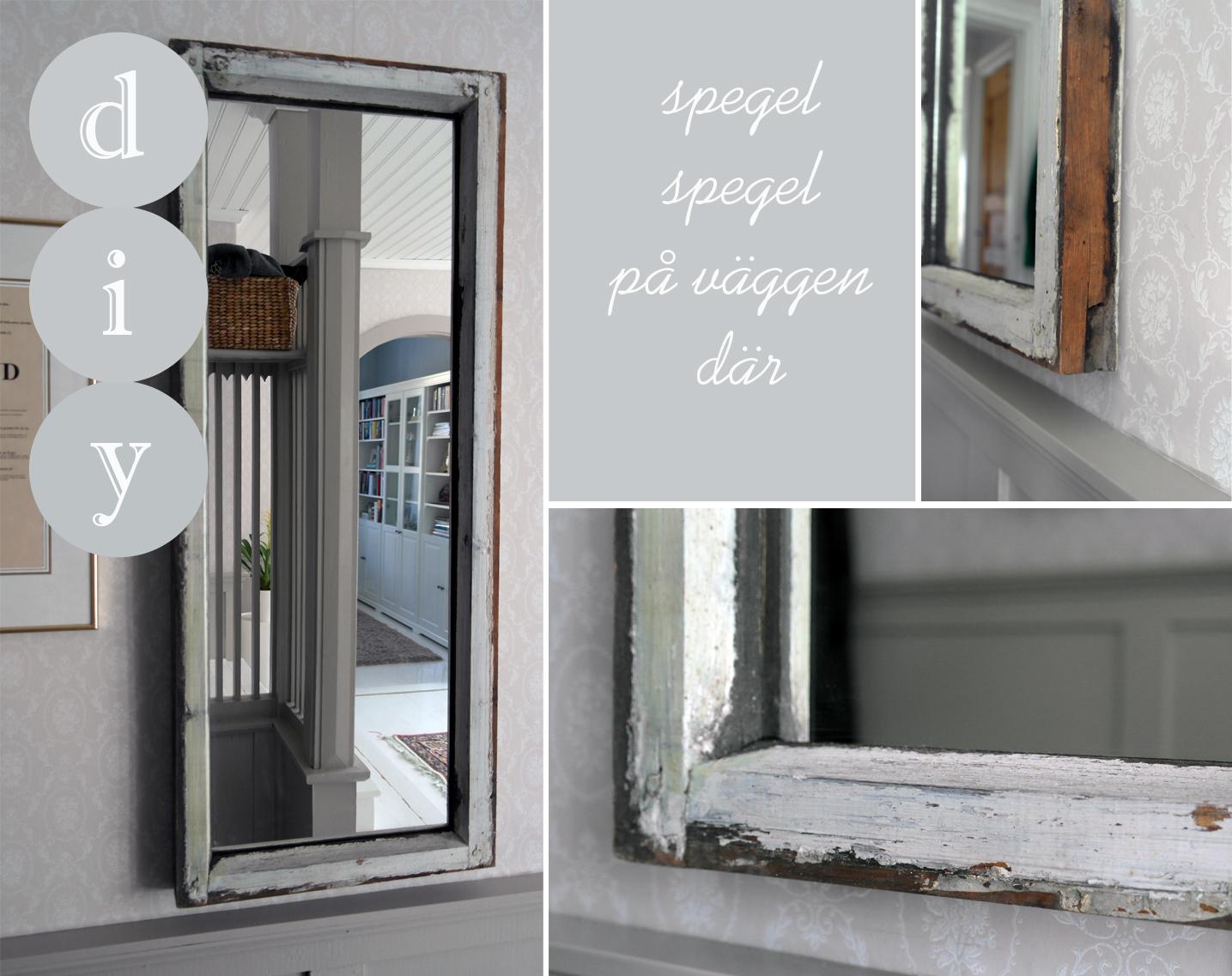 Spegel av en fönsterkarm  mammaspring